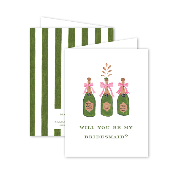 Champagne Bridesmaid Card