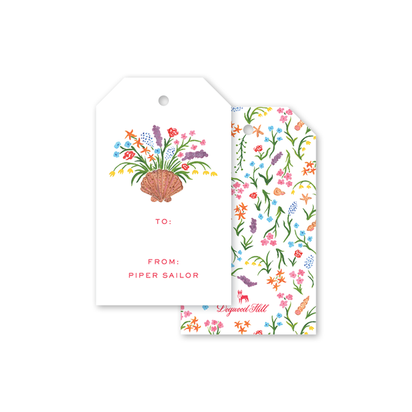 Seashell Blooms Gift Tags