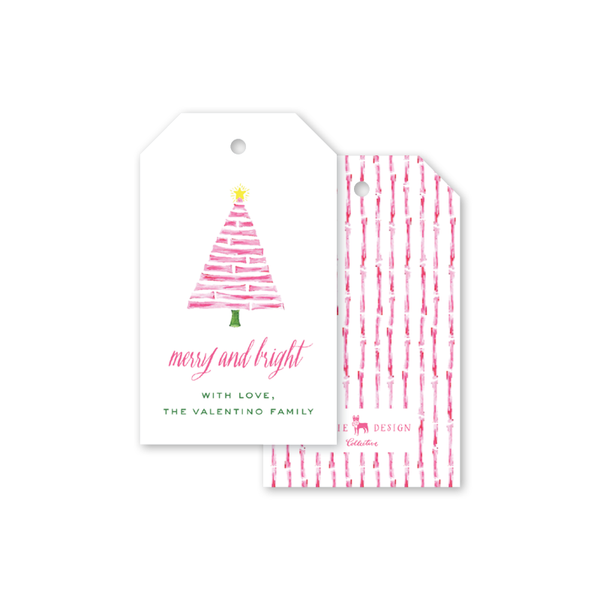 Bamboo Lights Tree Gift Tags