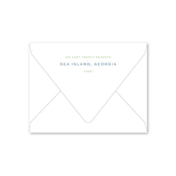 Bamboo Moving Announcement Envelopes
