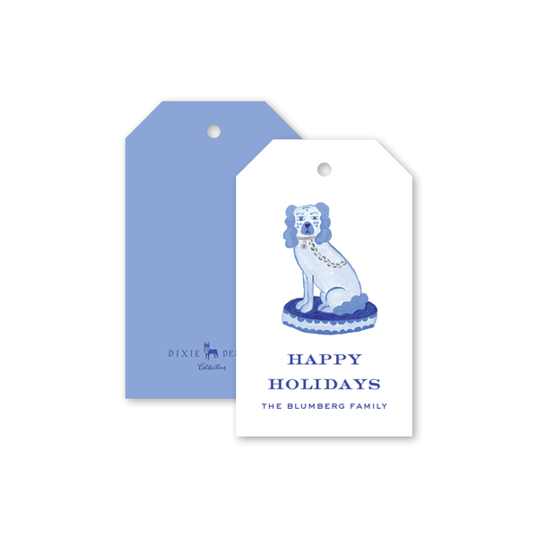 Blue Staffordshire Gift Tags