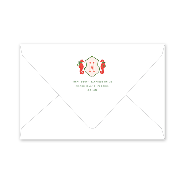 Coral Harbor Holiday Crest Envelopes