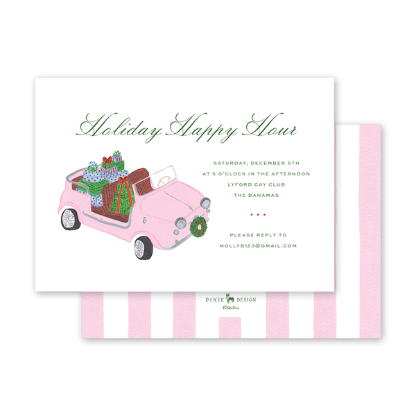 Holiday Car Landscape Invitation
