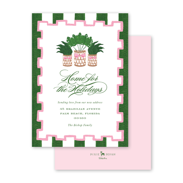 Holiday Palm Border Invitation