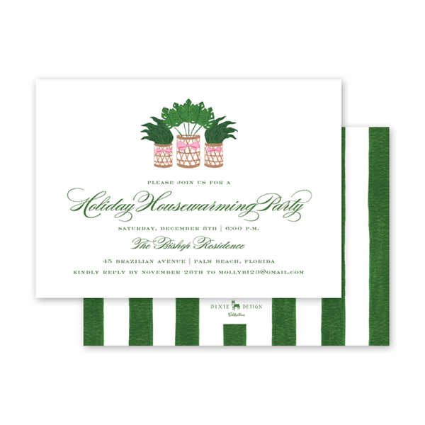 Holiday Palm Invitation
