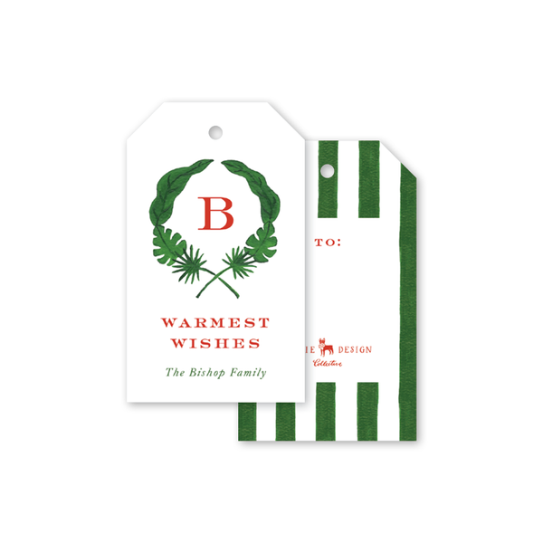 Holiday Palm Wreath Gift Tags