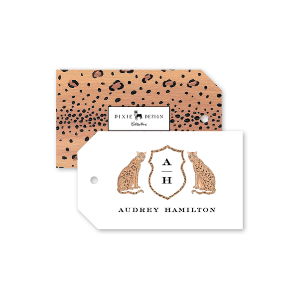 Leopard Crest Gift Tags