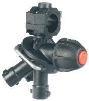 Nozzle holders ~ Tri-Jet - 3-Way Sprayer Nozzle Holder with Diaphragm Check Valve