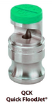 Nozzle - FloodJet Wide Angle Flat Spray Tips : QCK-SS