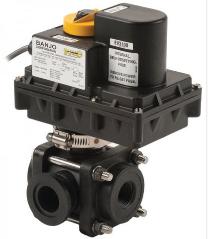 "Electric Valves - 1""-2"" 3 Way Side Load ON/OFF"