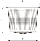 Filter ~ Basket / Tank Filling - Mesh 18