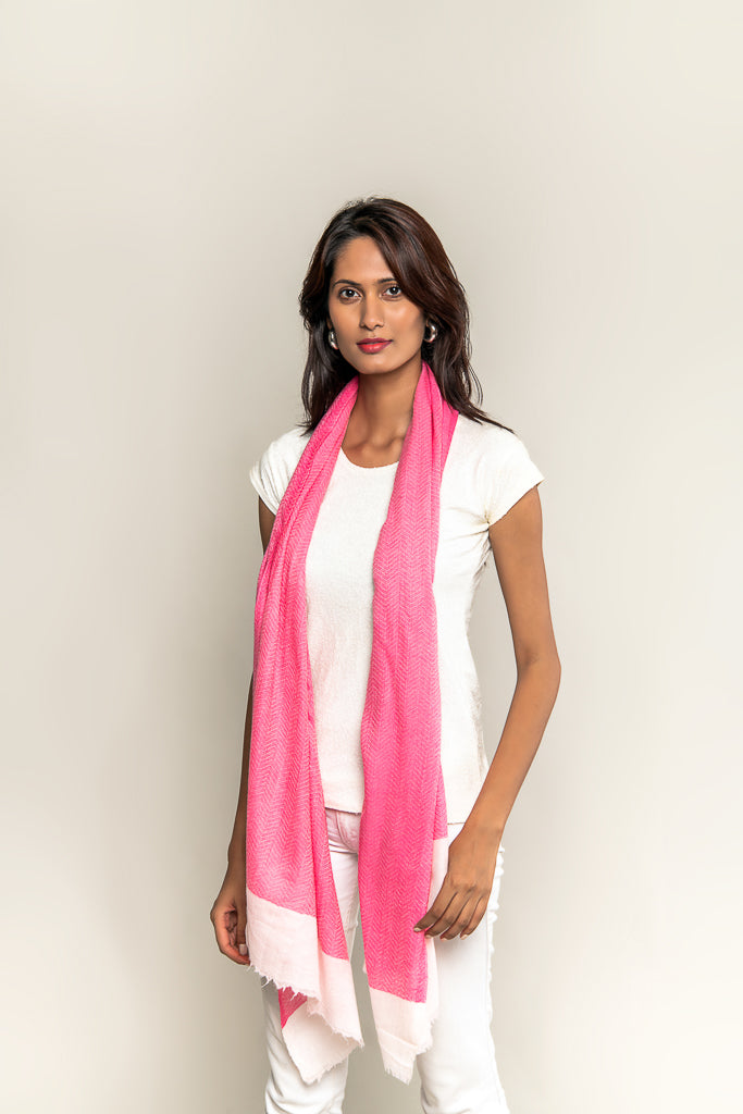 Handmade Pure Blended Pashmina Stole - Fuschia Pink
