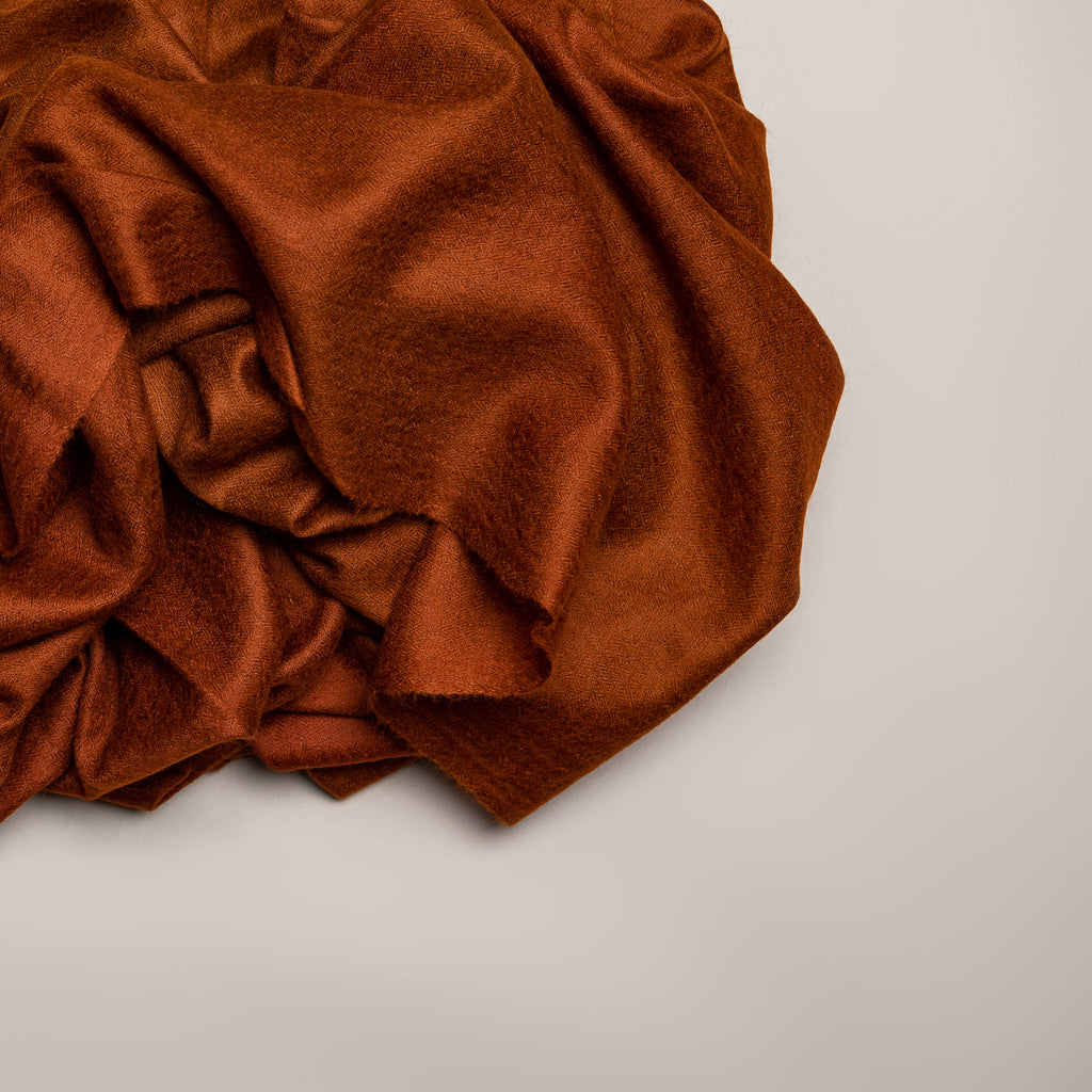 Handmade Pashmina / Cashmere stole - Rust / Copper color