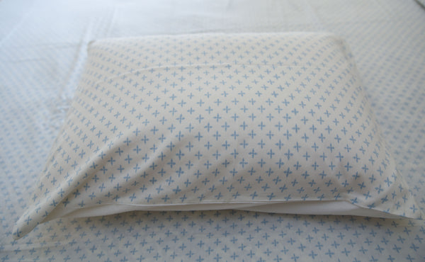All New Roysha Handmade Block-Printed Bed Sheet with Pillowcases Blue color with designs - King Size