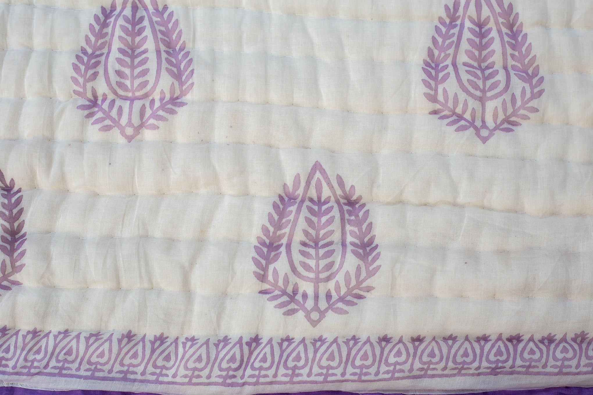 All New Roysha 2021 Queen Quilt Collection, 100 Percent Handmade, Hand Block printed Quilt, Lavender