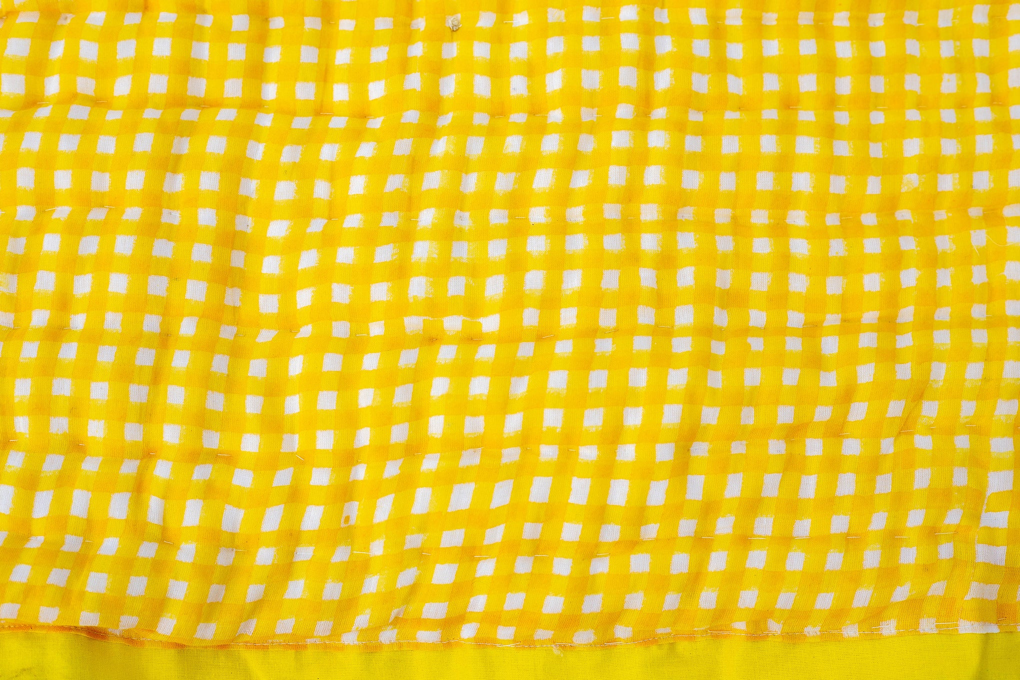 All New Roysha 2021 Queen Quilt Collection,100 Percent Handmade, Hand Block printed Quilt, Jaipuri Quilt, Hand Quilted, Yellow Checks