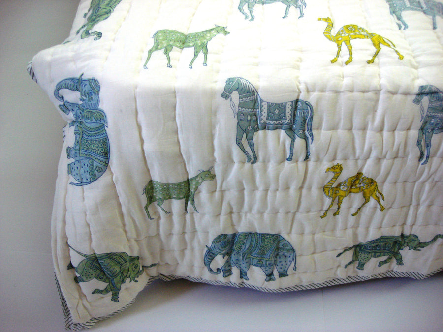100% Handmade Cotton Queen Quilt - Animal Designs - Pentagon Crafts