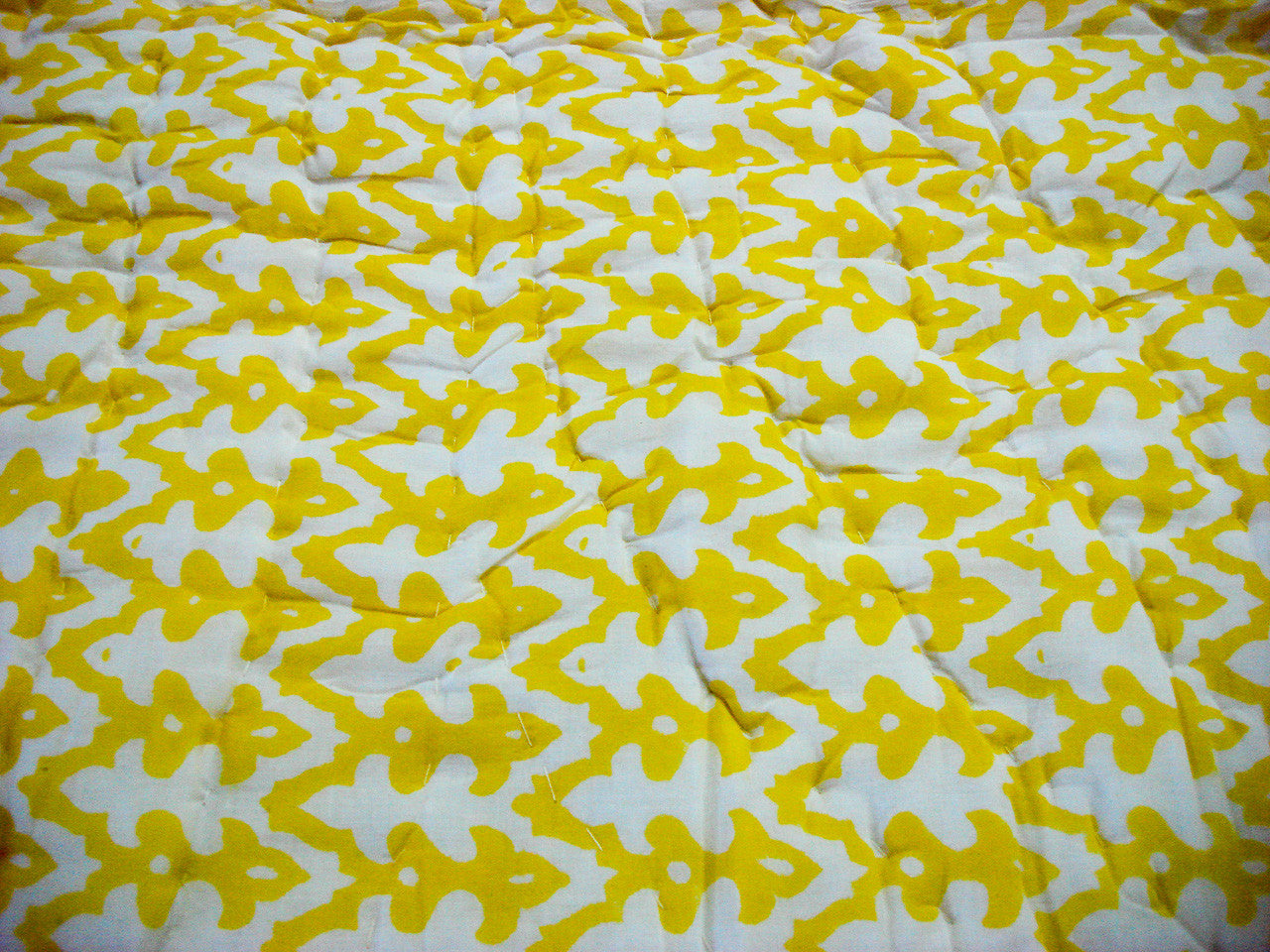 QBP-150 100% Handmade Cotton Quilt - Yellow and Orange prints , Quilts - Pentagon Crafts, Pentagon Crafts  - 5