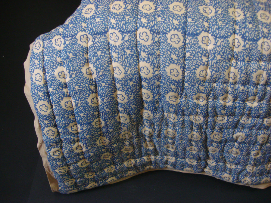 QBP 168 - 100% Handmade Cotton Queen Quilt - Blue Sand - Pentagon Crafts