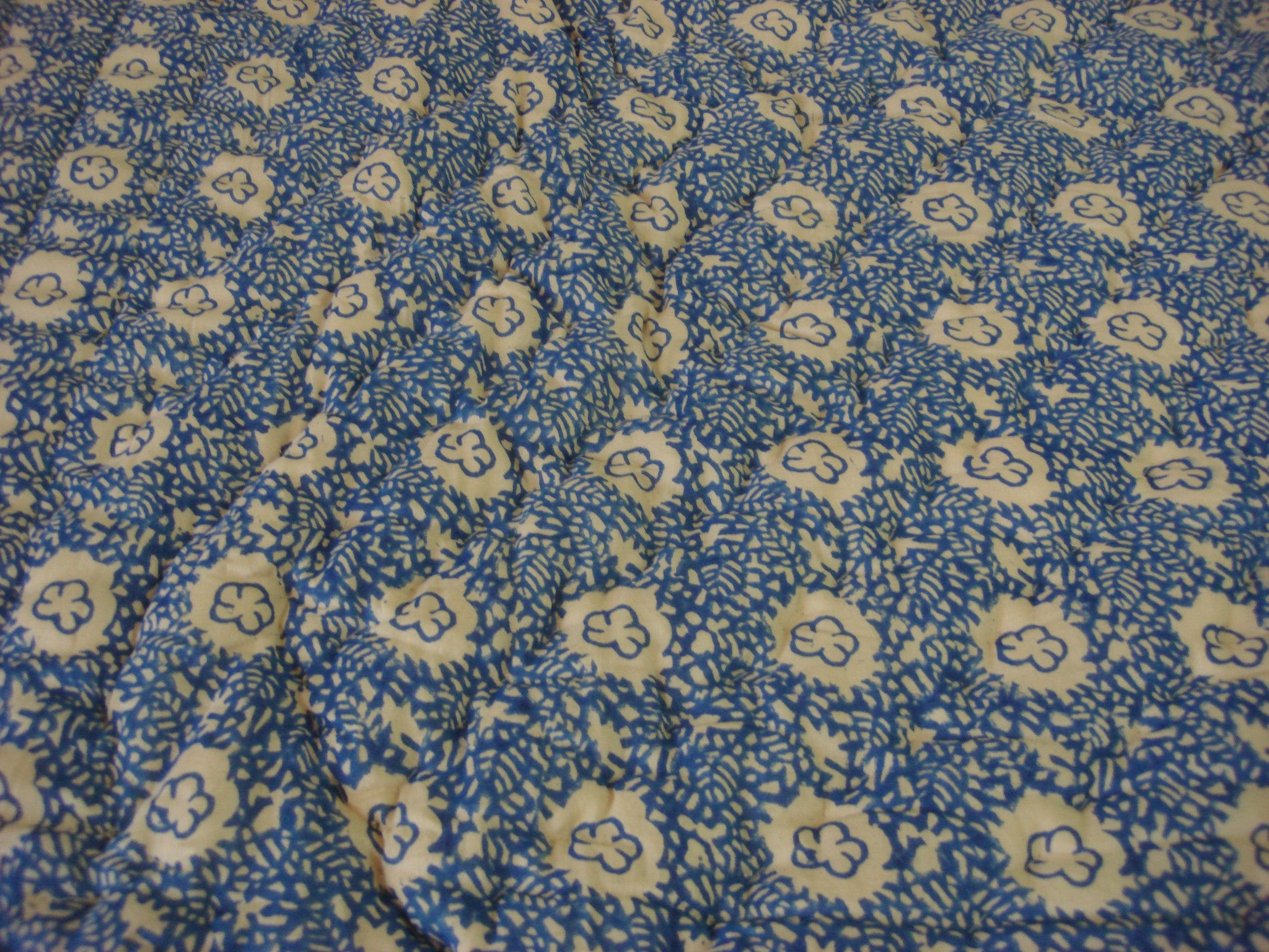 QBP 168 - 100% Handmade Cotton Queen Quilt - Blue Sand , Quilts - Pentagon Crafts, Pentagon Crafts  - 4