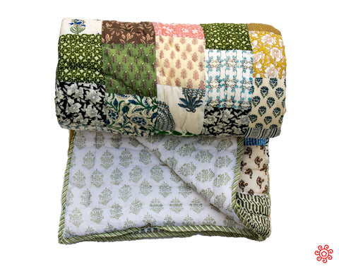 All New Roysha 2020 Quilt Collection - 100% Handmade Queen Patchwork Quilt QPW-201
