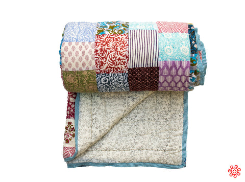 All New Roysha 2020 Quilt Collection - 100% Handmade Queen Patchwork Quilt QPW-205