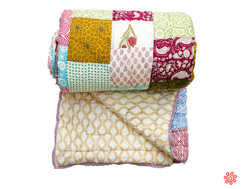 All New Roysha 2020 Quilt Collection - 100% Handmade Queen Patchwork Quilt QPW-206