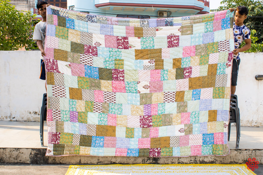 All New Roysha 2020 Quilt Collection - 100% Handmade Queen Patchwork Quilt QPW-209