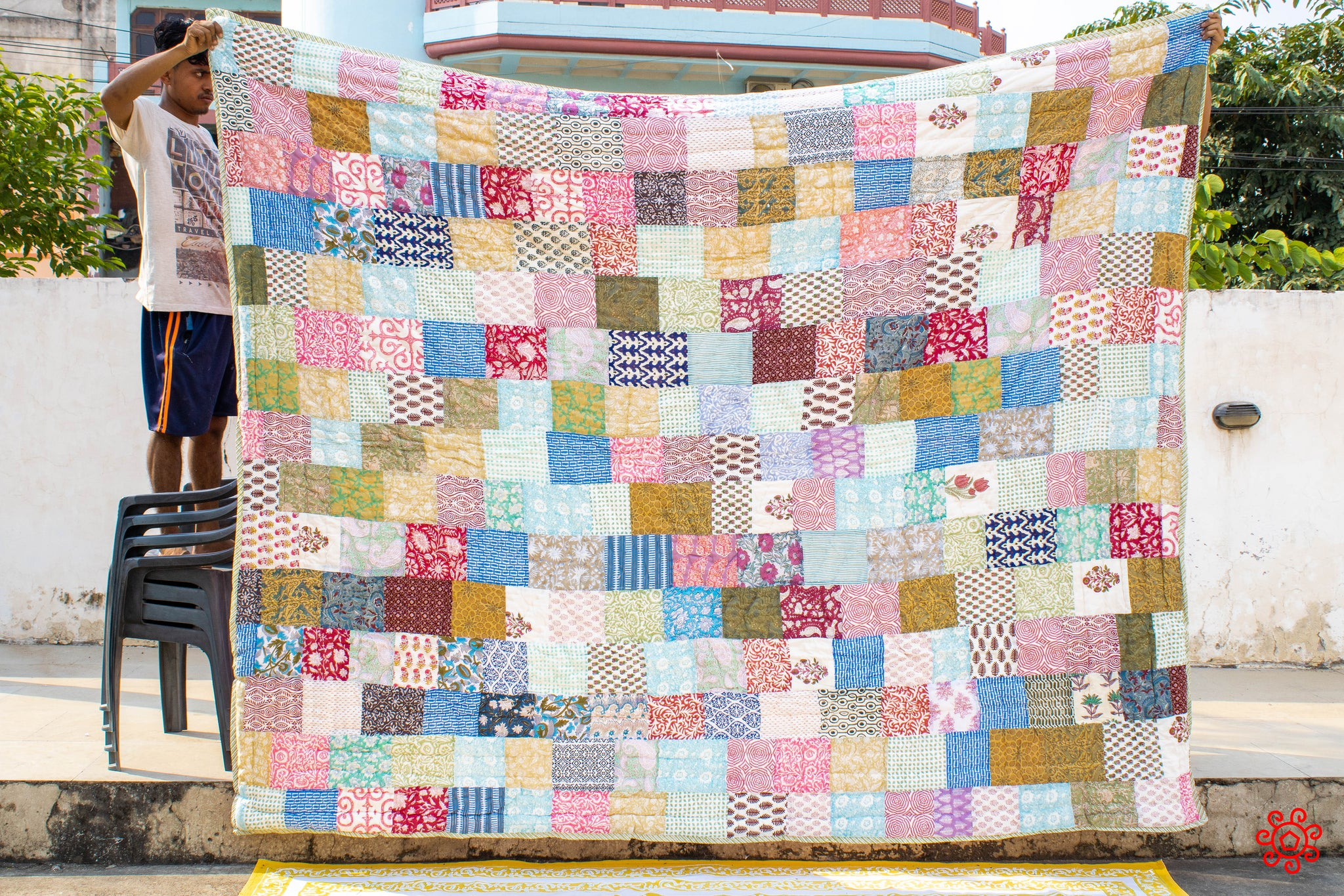 All New Roysha 2020 Quilt Collection - 100% Handmade Queen Patchwork Quilt QPW-221
