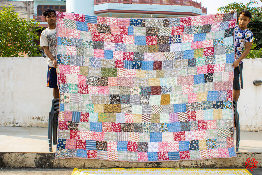 All New Roysha 2020 Quilt Collection - 100% Handmade Queen Patchwork Quilt QPW-230