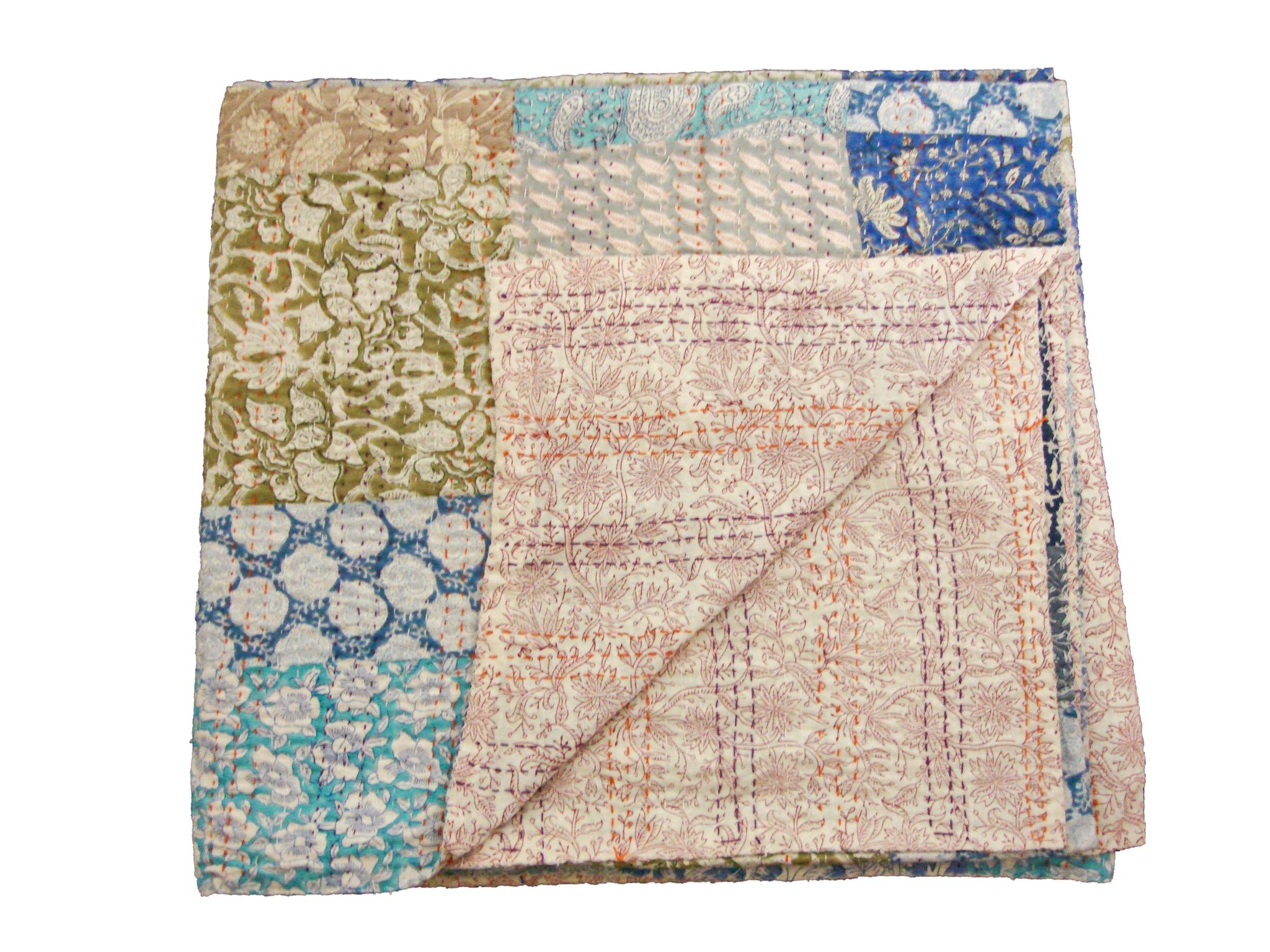 Handmade Patchwork Throw - Multicolored Patchwork
