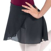Chiffon Wrap Skirt- Black