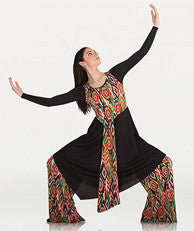 BODYWRAPPERS ASYMMETRICAL TUNIC