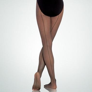 BODYWRAPPERS A62 SEAMED FISHNET TIGHTS