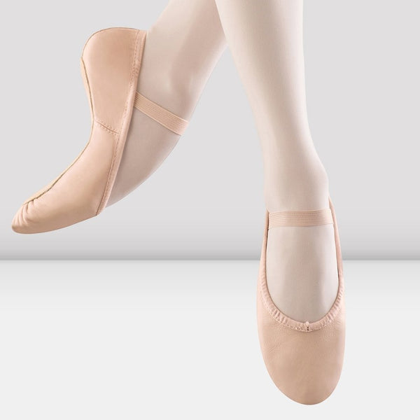 Girls Dansoft Leather Ballet- Pink