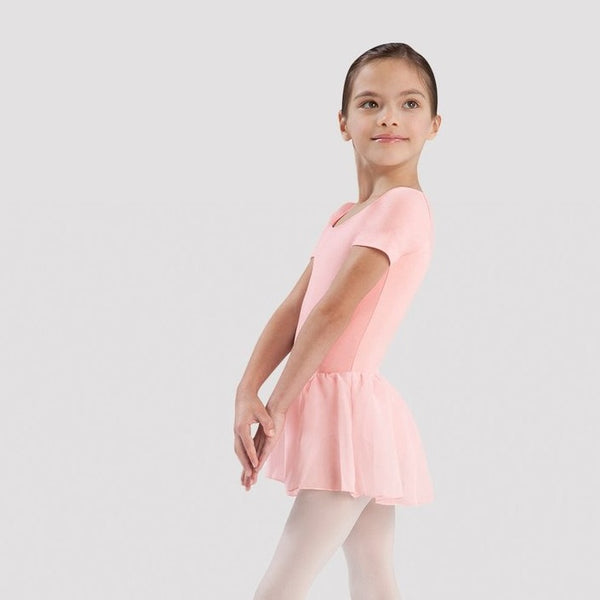 Cotton Short Sleeve Skirted Leotard