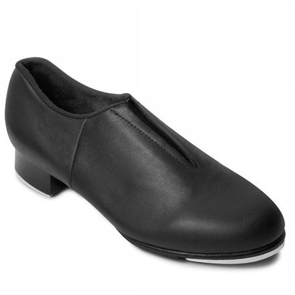 Black Slip-On, Split-Sole Tap Shoe