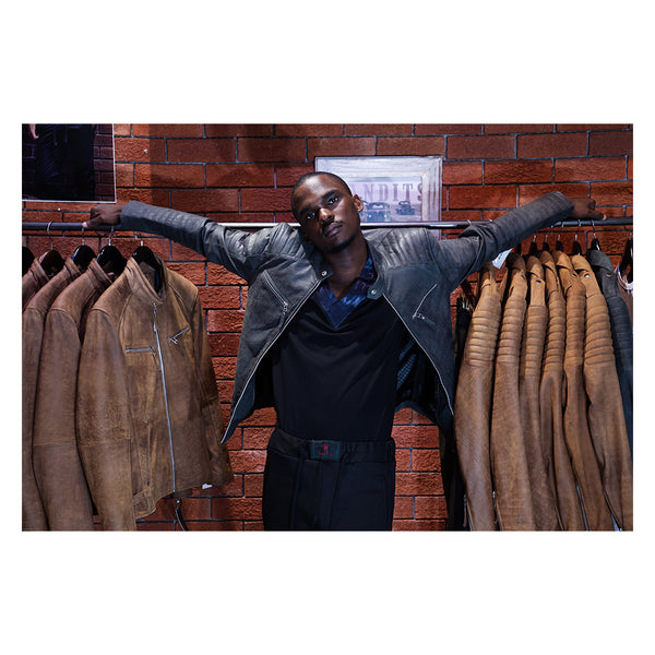 Billy J sport leather jacket Issa Leo South Africa