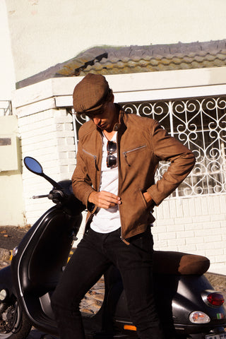 leather jacket brown south africa