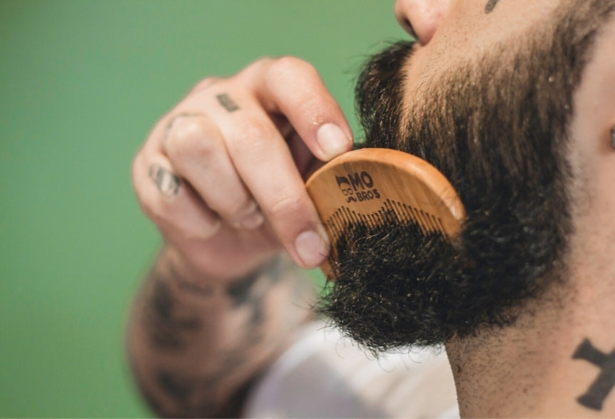 Soften your beard with a comb