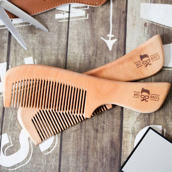 Mo Bro's Wooden Beard Comb with Handle
