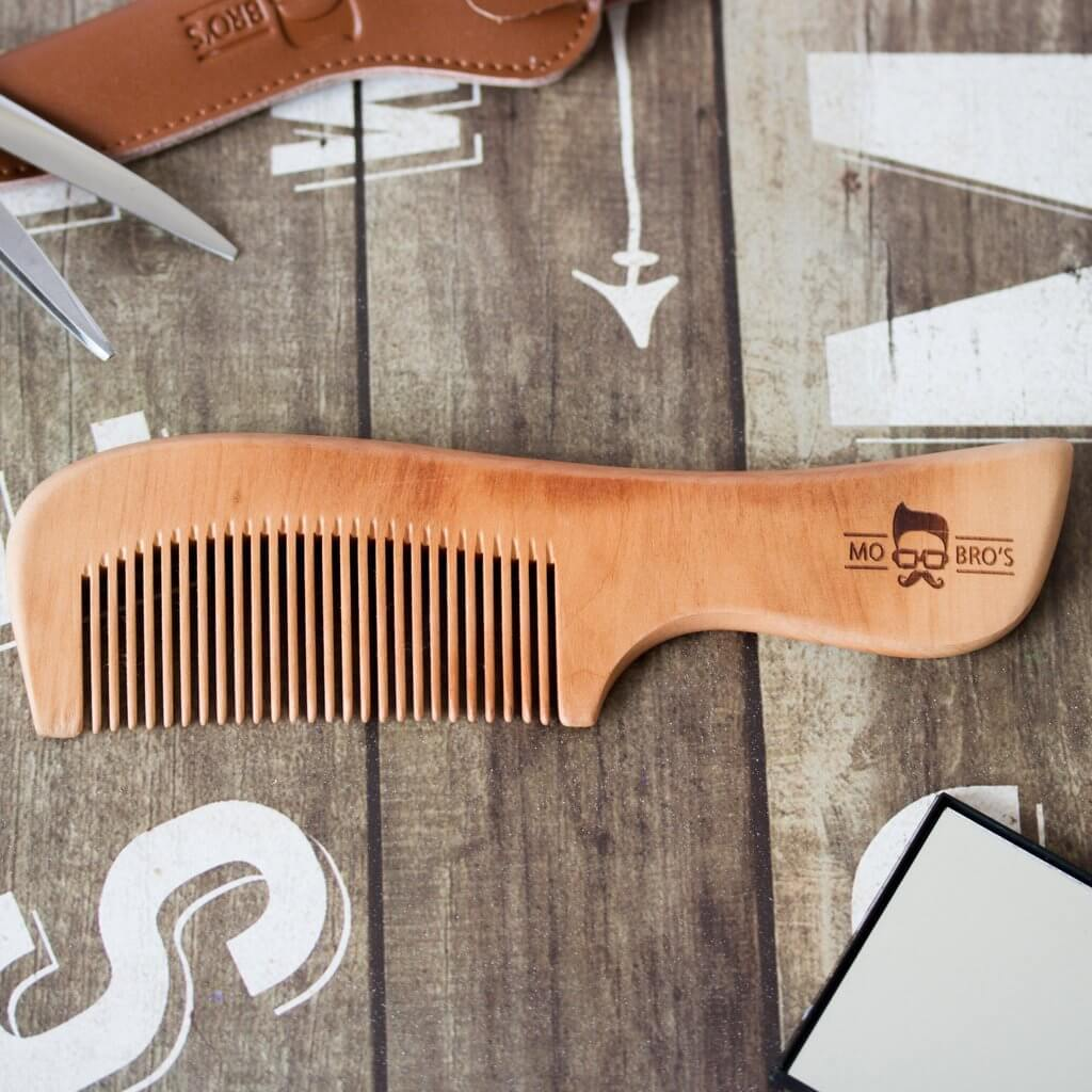 Mo Bro's Wooden Comb With a Handle - Mo Bros Beard & Moustache Grooming Co
