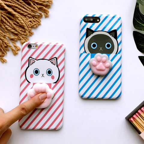 Cute 3D iPhone Paw Case