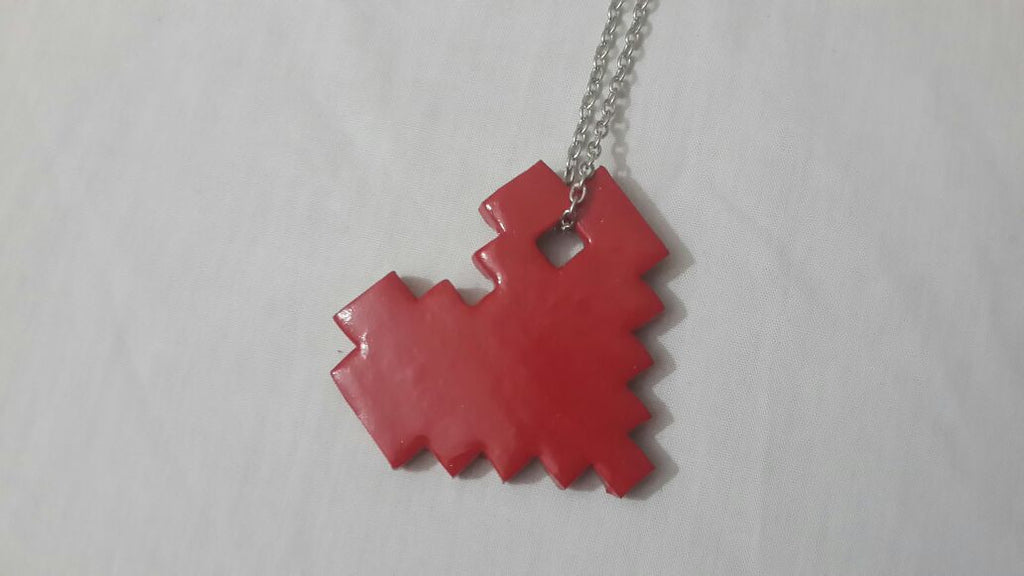 Pixel Heart Necklace