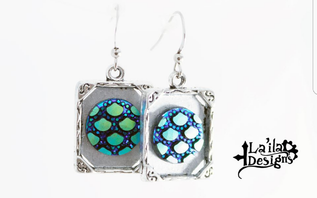Framed Scale Earrings
