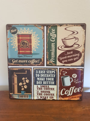 Coffee Man Cave Metal Sign