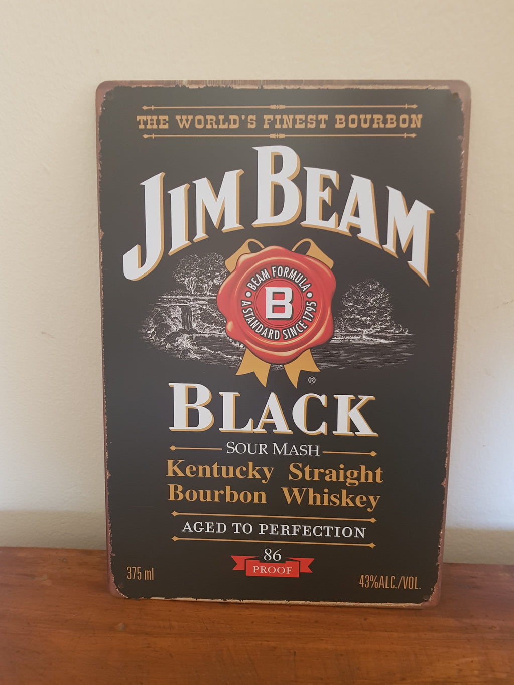 Jim Beam Man Cave Metal Sign