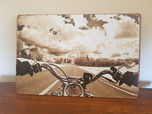 Motorcycle Bars Man Cave Metal Sign
