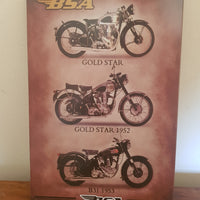 BSA Man Cave Metal Sign