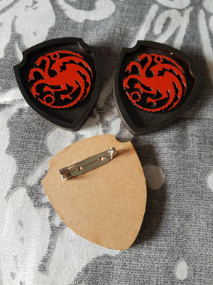 Great House Game Of Thrones Brooch ↠ Targaryen